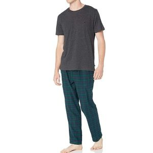 Nautica Short Sleeve Top & Flannel Pants Pajamas
